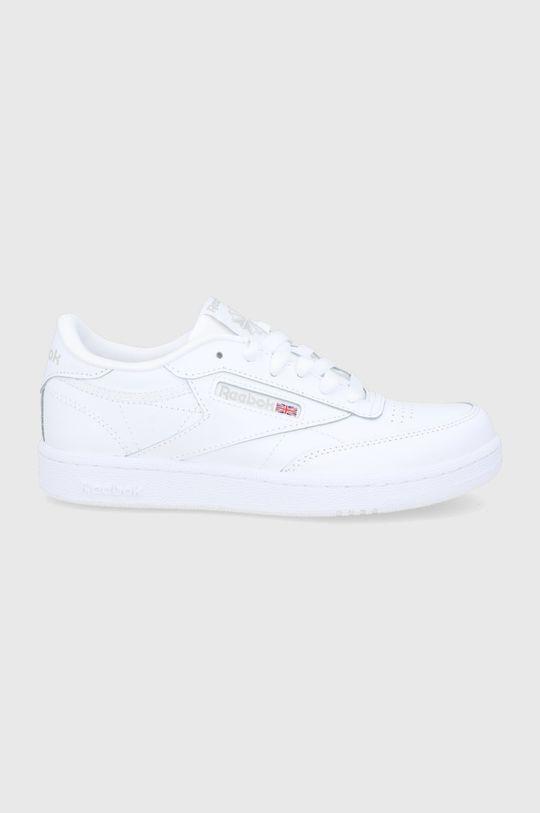biela Reebok Classic - Detské kožené topánky Club C Chlapčenský