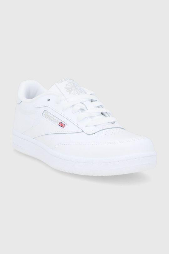 Reebok Classic - Detské kožené topánky Club C biela