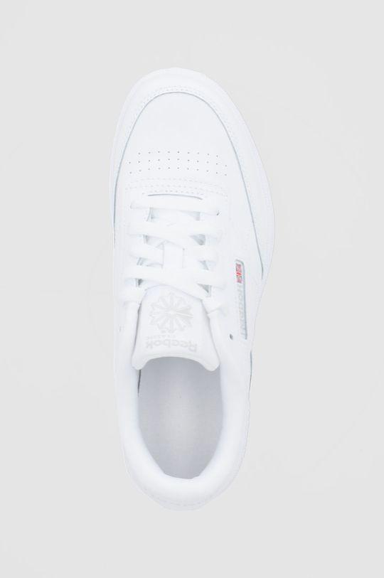 biela Reebok Classic - Detské kožené topánky Club C