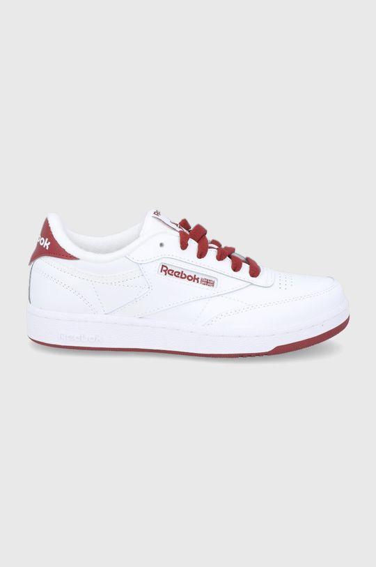 bílá Reebok Classic - Dětské kožené boty Club C Chlapecký
