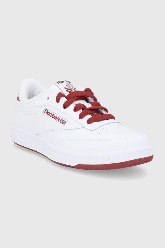 Reebok Classic - Dětské kožené boty Club C bílá