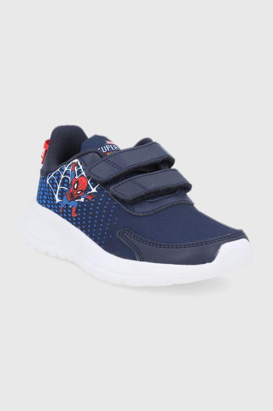 adidas - Buty dziecięce Tensaur Run x Marvel granatowy