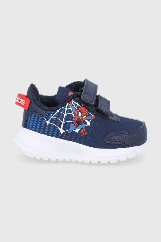 granatowy adidas - Buty dziecięce Tensaur Run I x Marvel Chłopięcy