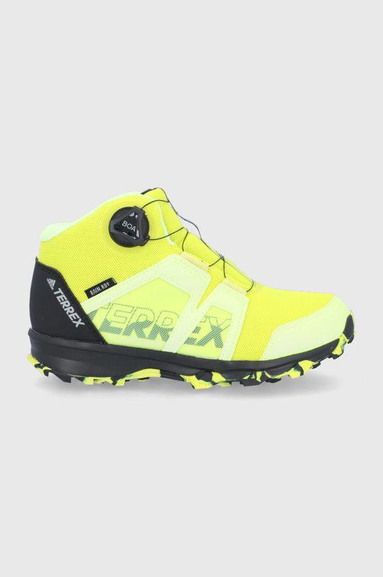 żółty adidas Performance - Buty Terrex Boa Mid Chłopięcy
