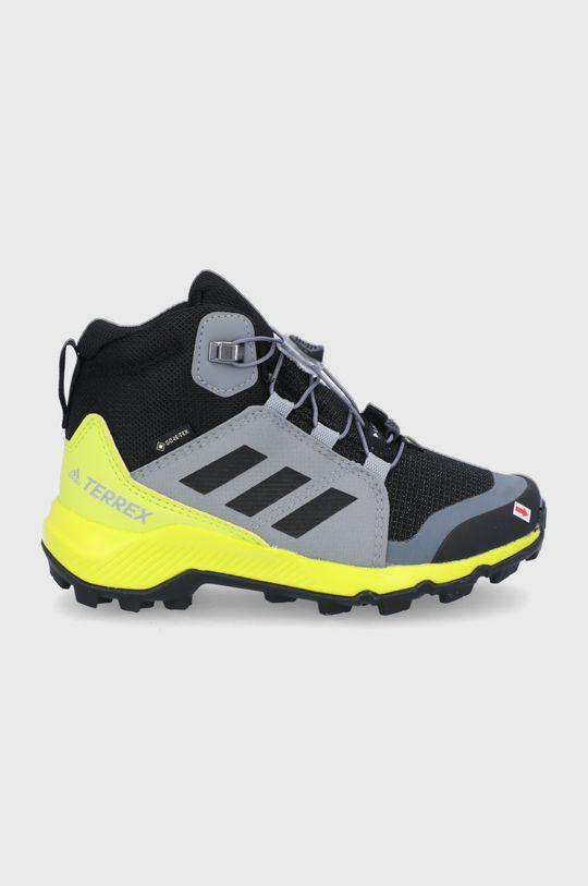 szary Adidas Performance - Buty dziecięce Terrex Mid GTX Chłopięcy