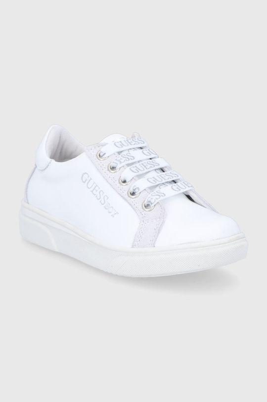 Guess - Gyerek bőrcipő fehér