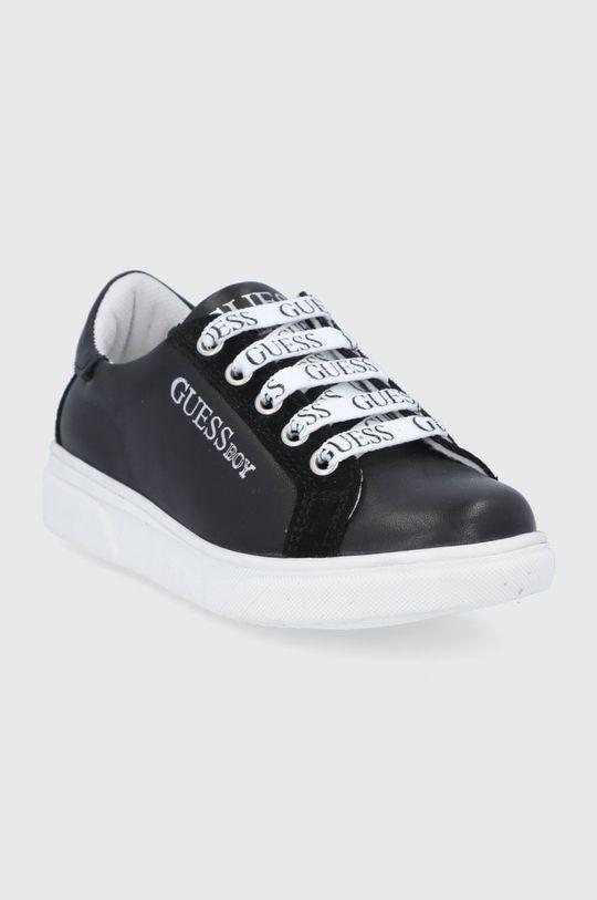 Guess - Gyerek bőrcipő fekete
