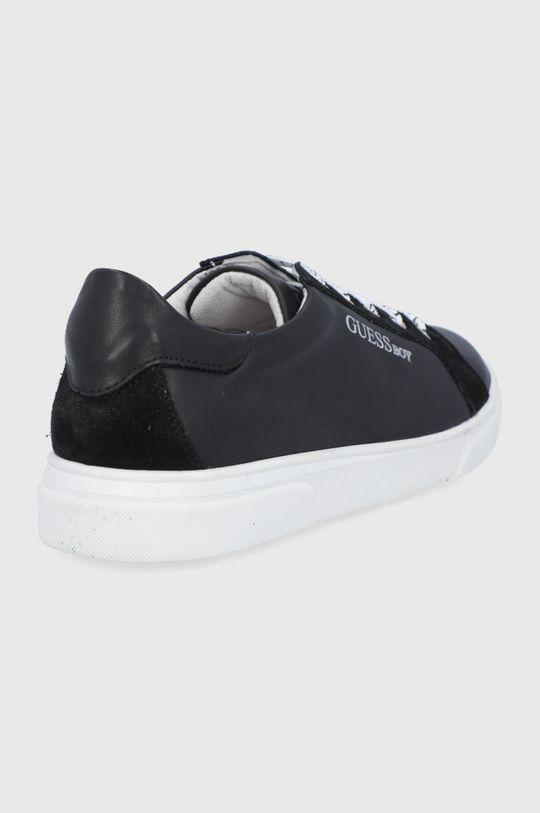 Guess - Dětské kožené boty  Svršek: Přírodní kůže Vnitřek: Textilní materiál Podrážka: Umělá hmota