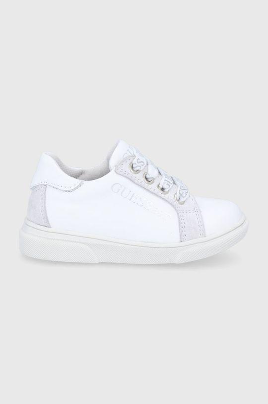 bílá Guess - Dětské kožené boty Chlapecký