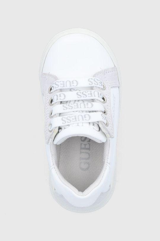 bílá Guess - Dětské kožené boty