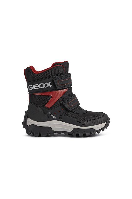 czarny Geox - Śniegowce dziecięce Chłopięcy