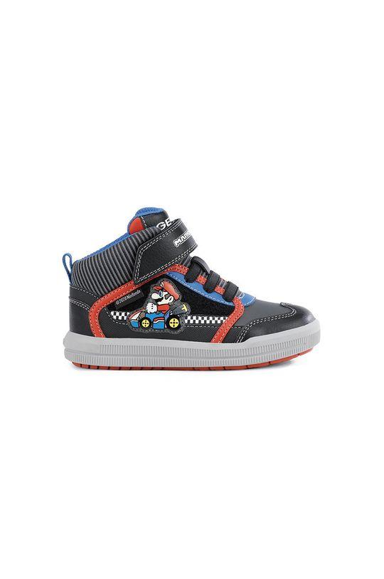 czarny Geox - Buty dziecięce Chłopięcy