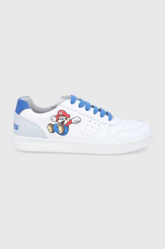 biały Geox - Buty skórzane dziecięce Chłopięcy