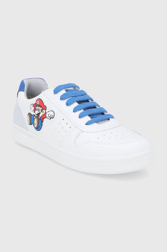 Geox - Buty skórzane dziecięce biały