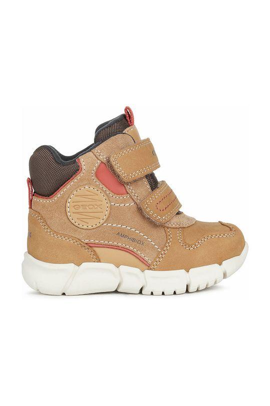 χρυσό καφέ Geox - Παιδικά παπούτσια Για αγόρια