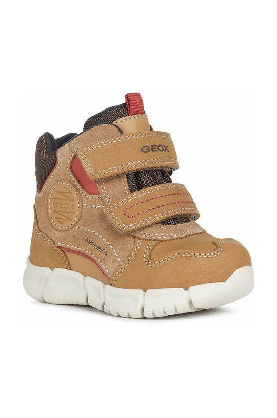Geox - Παιδικά παπούτσια χρυσό καφέ