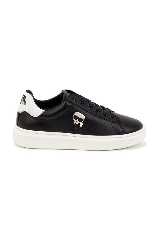 czarny Karl Lagerfeld - Buty skórzane dziecięce Chłopięcy