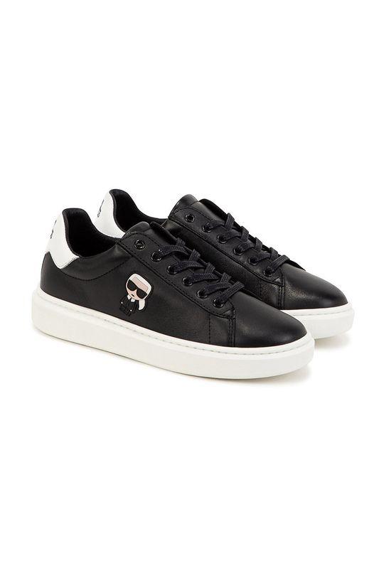 Karl Lagerfeld - Buty skórzane dziecięce czarny