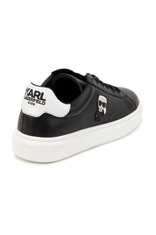 czarny Karl Lagerfeld - Buty skórzane dziecięce