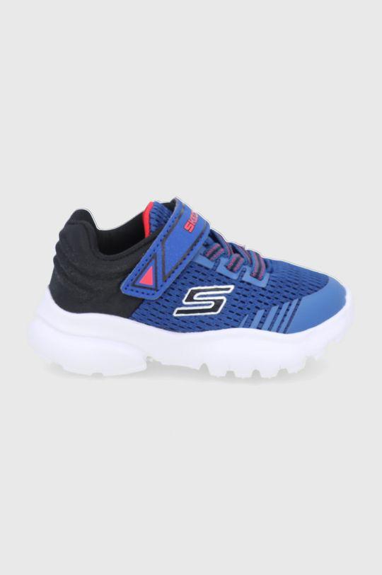 niebieski Skechers - Buty dziecięce Chłopięcy