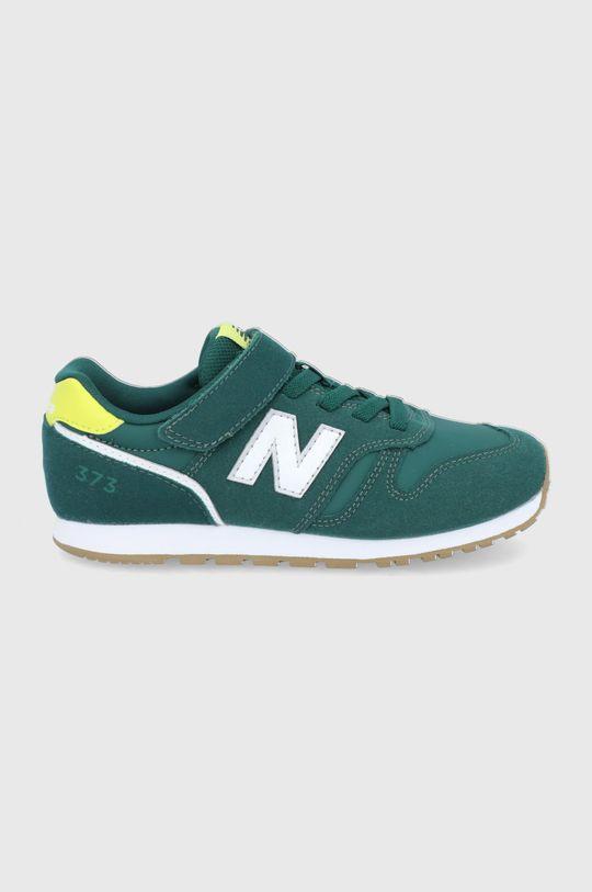 zielony New Balance - Buty dziecięce YV373WG2 Chłopięcy