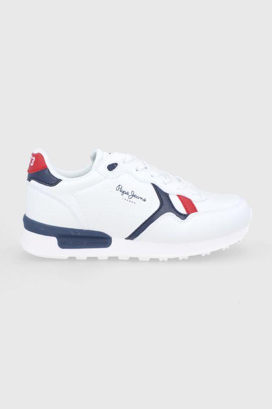 bílá Pepe Jeans - Dětské boty Britt College Chlapecký