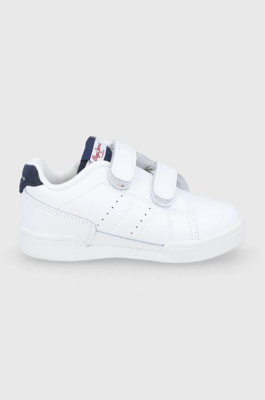 biały Pepe Jeans - Buty skórzane dziecięce Lambert Chłopięcy