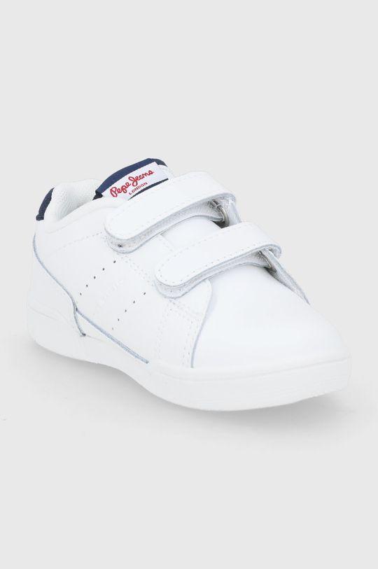 Pepe Jeans - Buty skórzane dziecięce Lambert biały