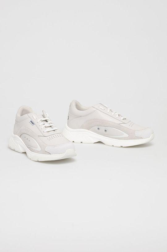 Hugo - Kožená obuv biela