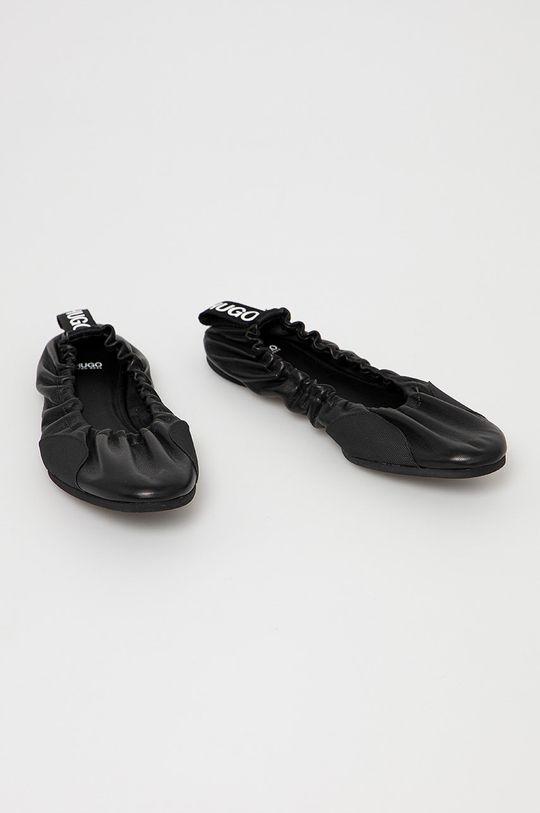 Hugo - Kožené baleríny černá