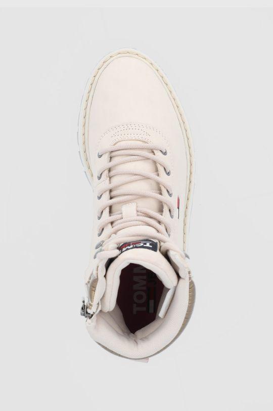 beżowy Tommy Jeans - Botki zamszowe