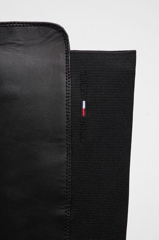 Tommy Jeans - Kozaki skórzane Cholewka: Materiał tekstylny, Skóra naturalna, Wnętrze: Materiał tekstylny, Skóra naturalna, Podeszwa: Materiał syntetyczny