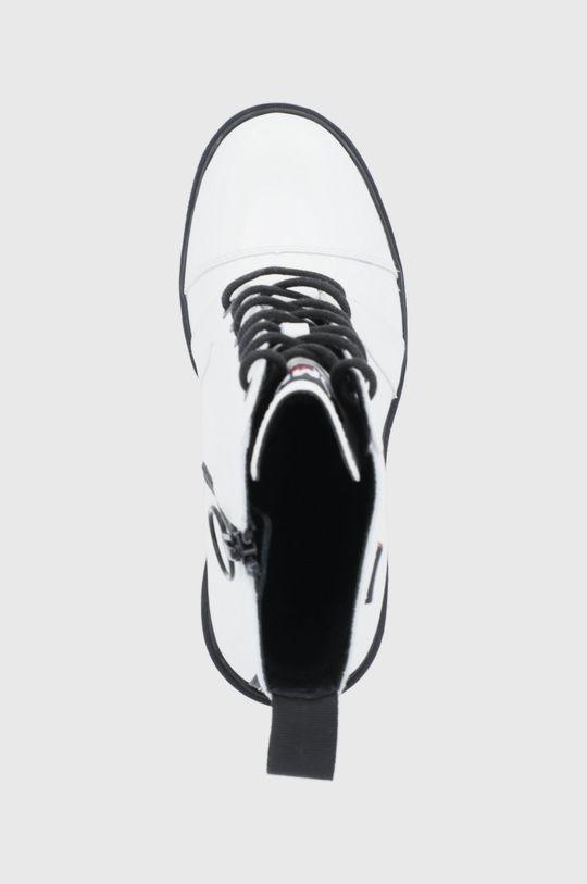 biały Tommy Jeans - Botki skórzane