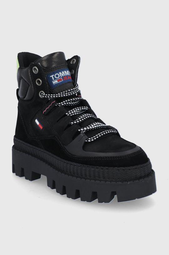 Tommy Jeans - Botki czarny