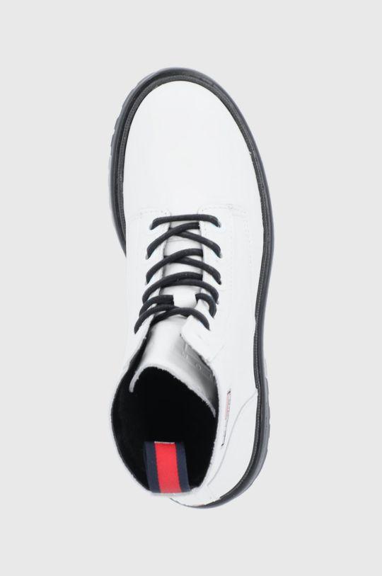 biały Tommy Jeans - Workery skórzane