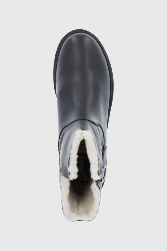czarny Tommy Jeans - Botki skórzane