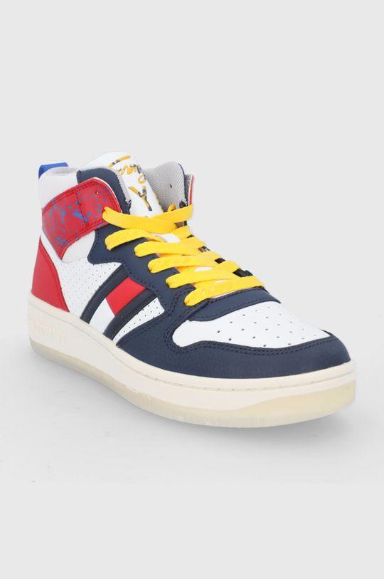 Tommy Jeans - Buty skórzane multicolor