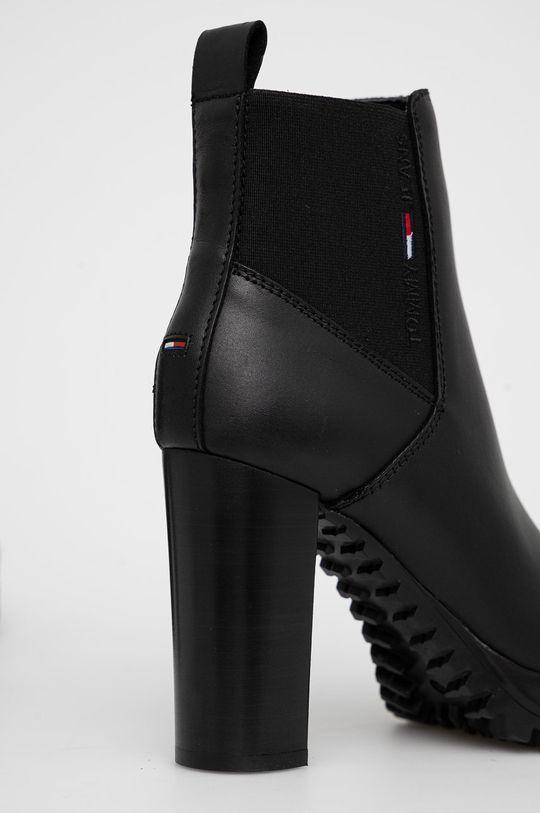 Tommy Jeans - Kožené členkové topánky  Zvršok: Prírodná koža Vnútro: Textil, Prírodná koža Podrážka: Syntetická látka
