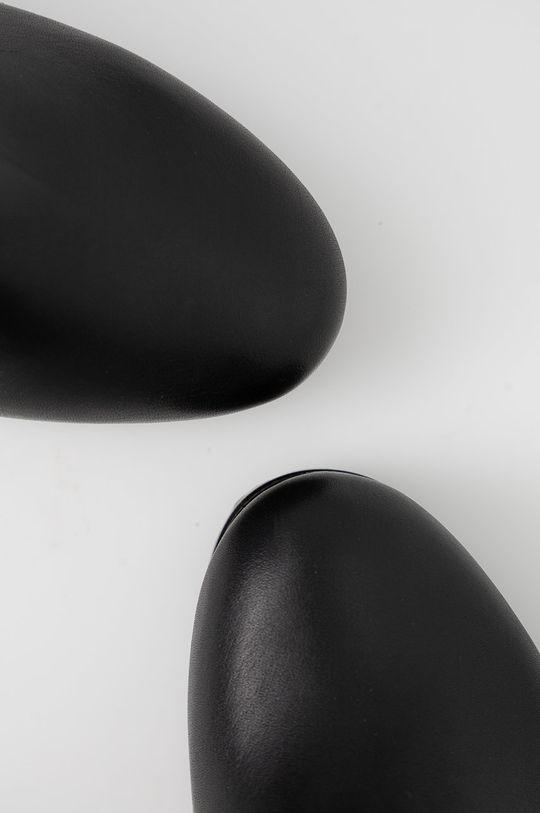 čierna Tommy Jeans - Kožené členkové topánky