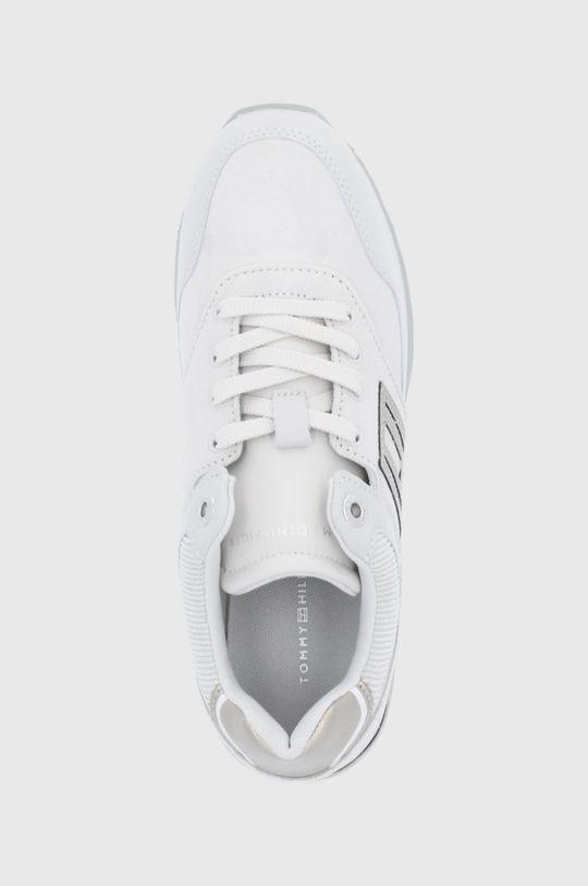 světle šedá Tommy Hilfiger - Kožené boty