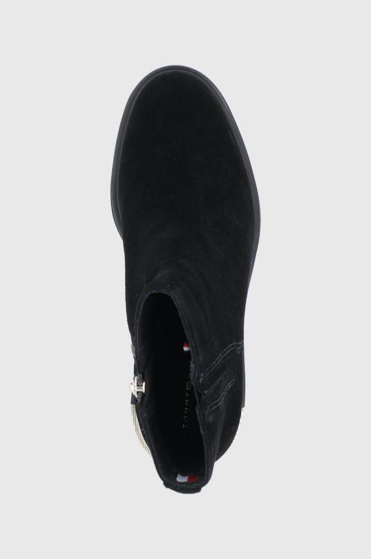 černá Tommy Hilfiger - Semišové boty