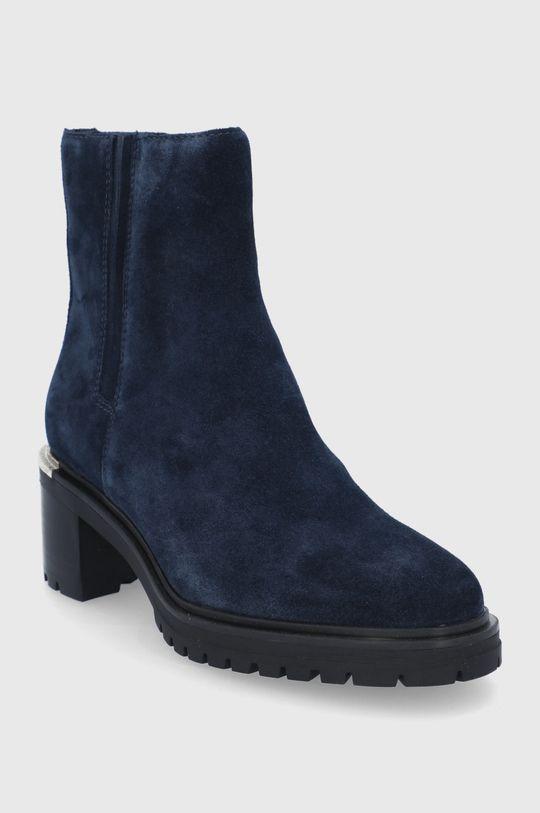 Tommy Hilfiger - Semišové boty námořnická modř