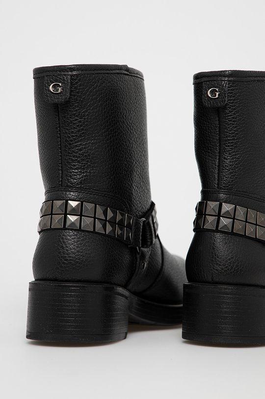 Guess - Kožené členkové topánky  Zvršok: Prírodná koža Vnútro: Textil Podrážka: Syntetická látka