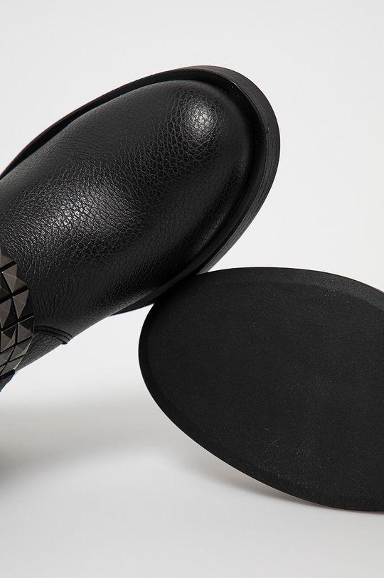 čierna Guess - Kožené členkové topánky