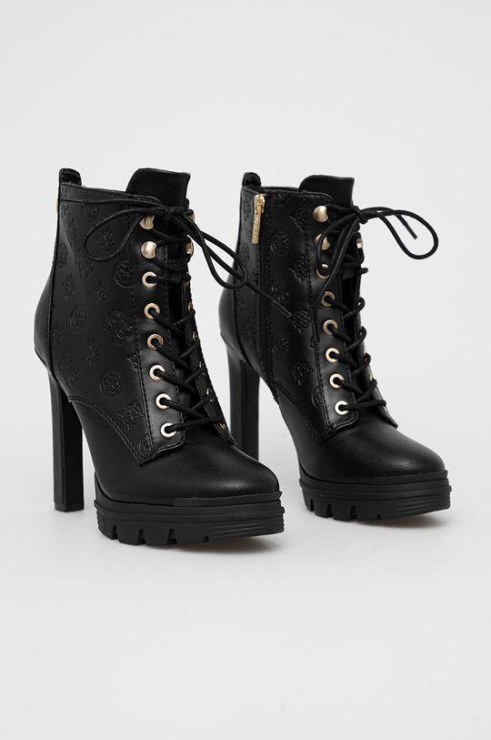 Guess - Členkové topánky čierna