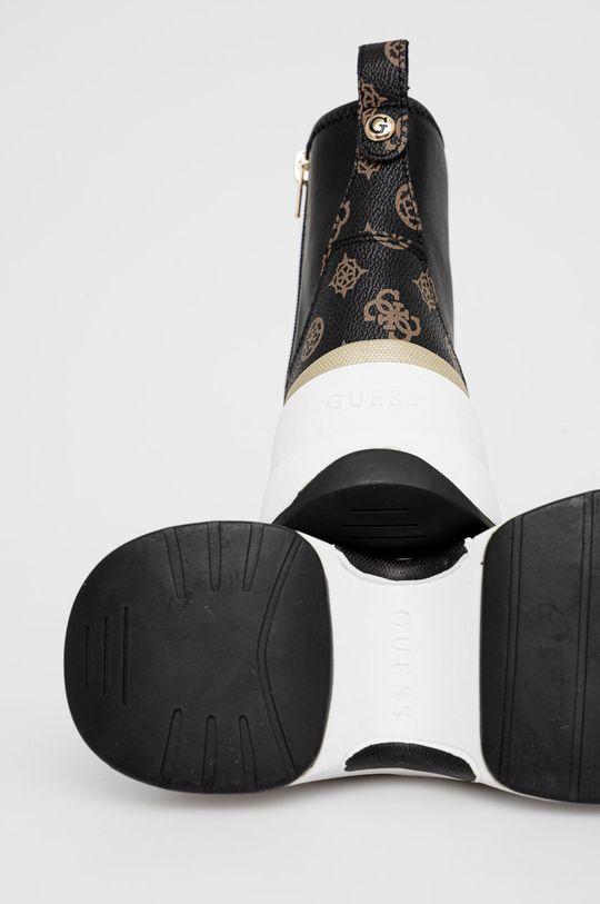 Guess - Buty Cholewka: Materiał syntetyczny, Skóra, Wnętrze: Materiał tekstylny, Skóra, Podeszwa: Materiał syntetyczny