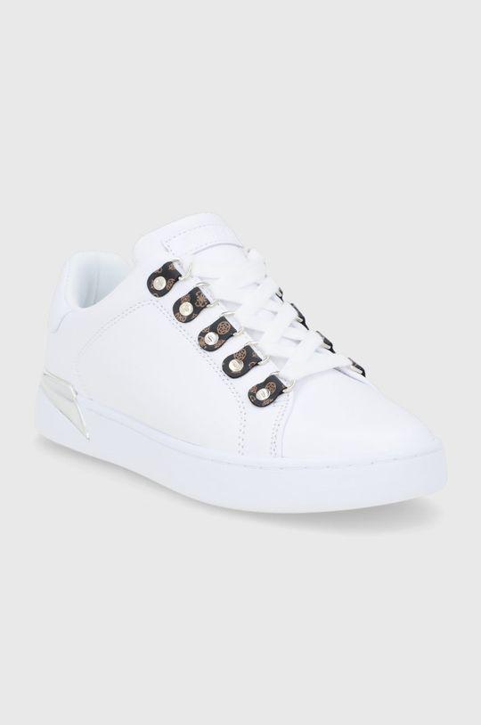 Guess - Buty skórzane biały