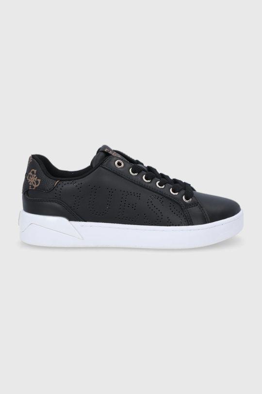 černá Guess - Kožené boty Dámský