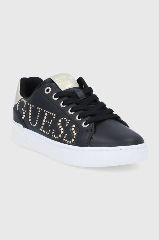 Guess - Buty skórzane czarny