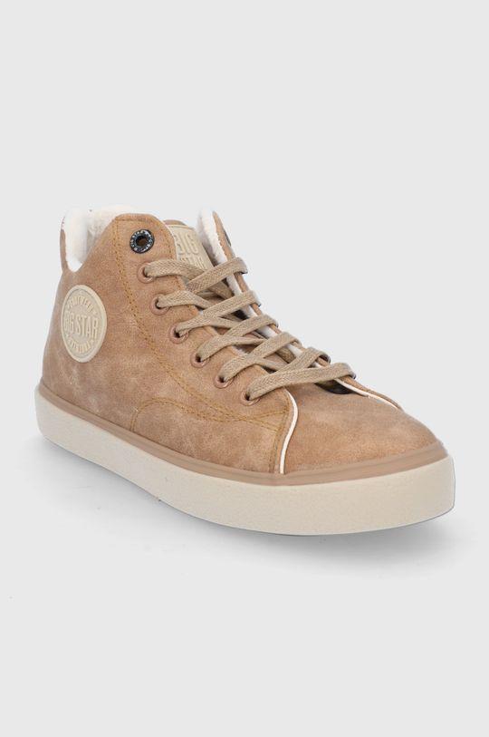 Big Star - Pantofi maro auriu